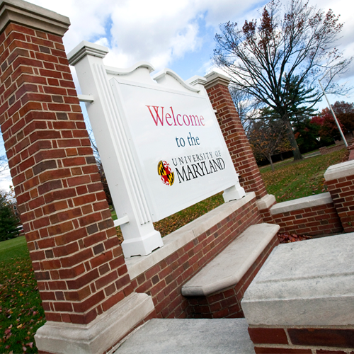 UMD Welcome Sign