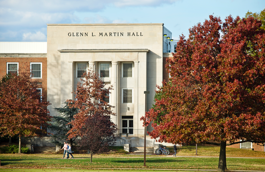 Martin Hall in Fall