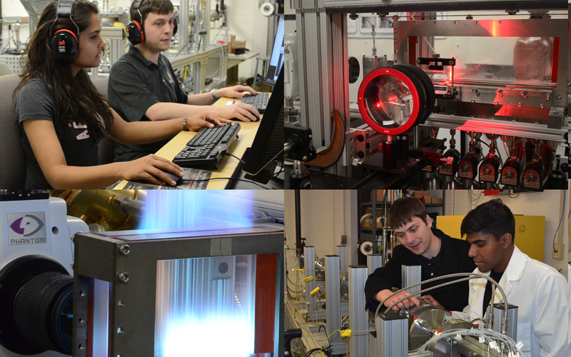 Students in the Advanced Propulsion Research Lab